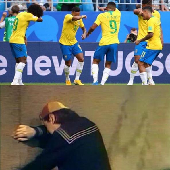 Comemoração de gol de Neymar lembra choro do Kiko, personagem do mexicano 'Chaves'