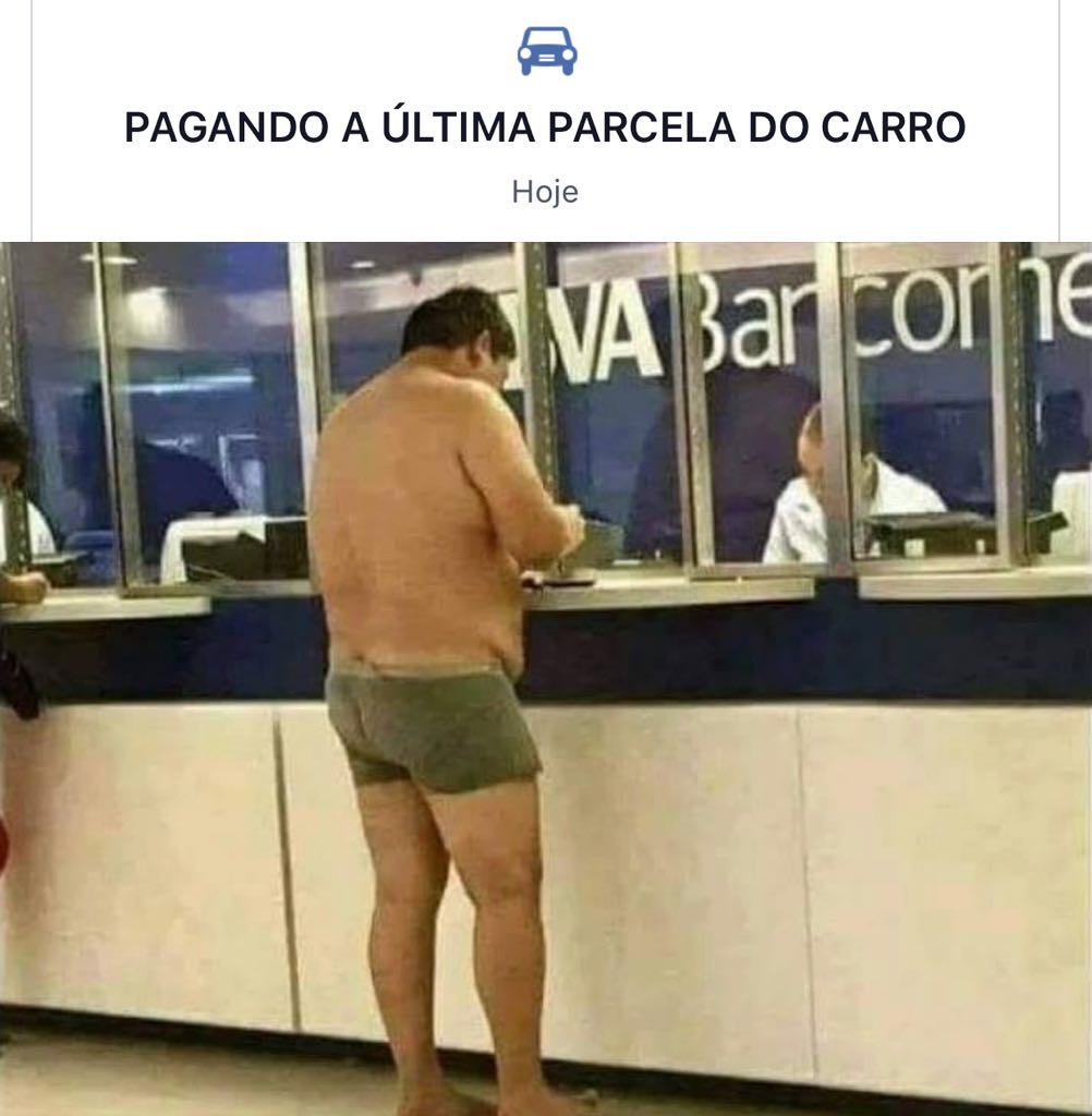 Pagando ultima parcela do carro