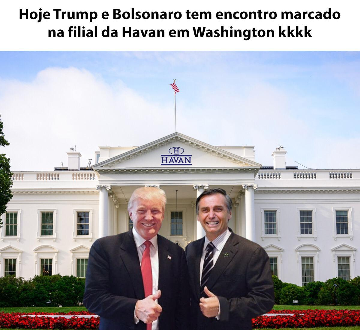 Encontro de Trump com Bolsonaro na Havan